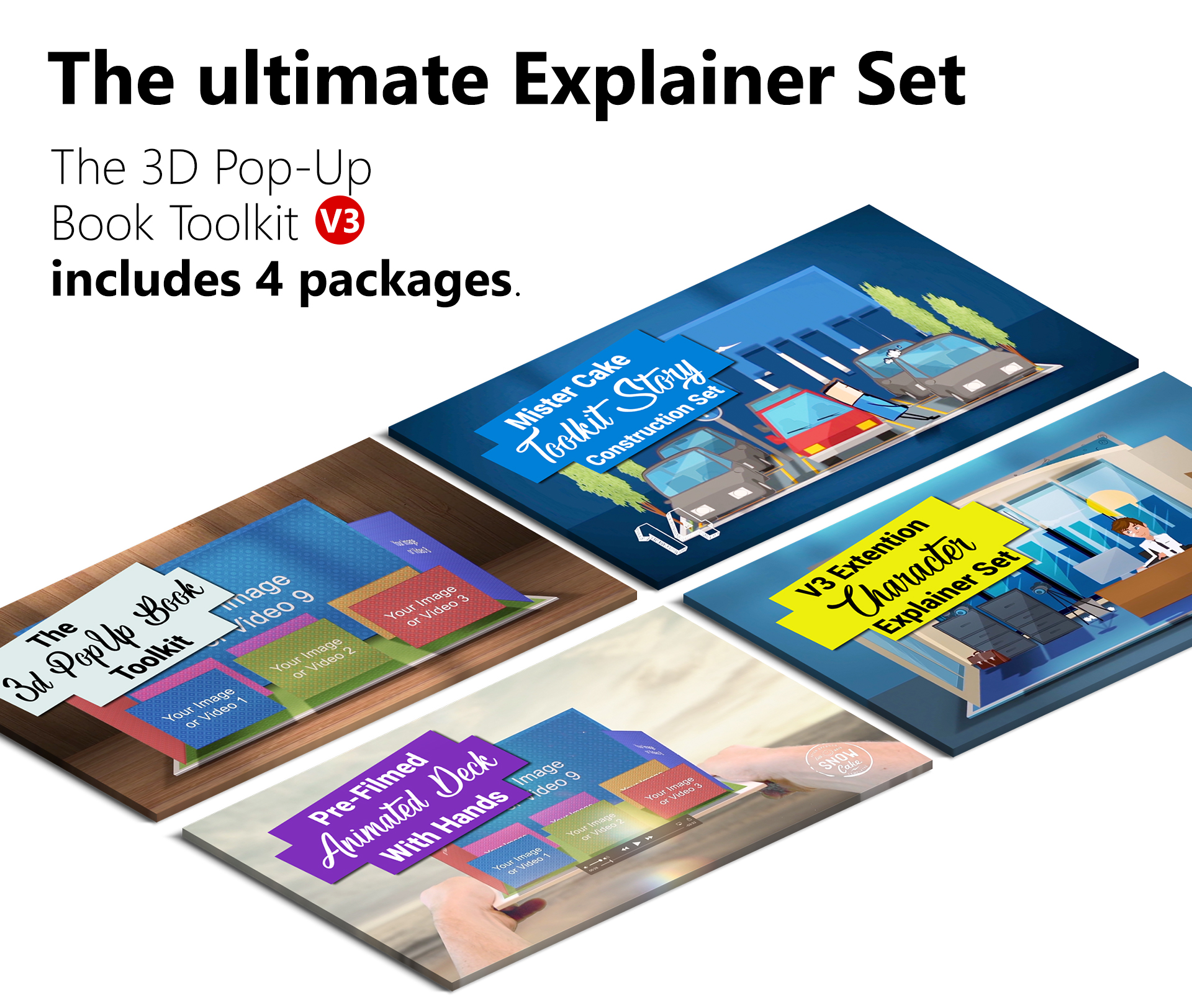 3D Pop-Up Book Explainer Toolkit & Story Pack - 1