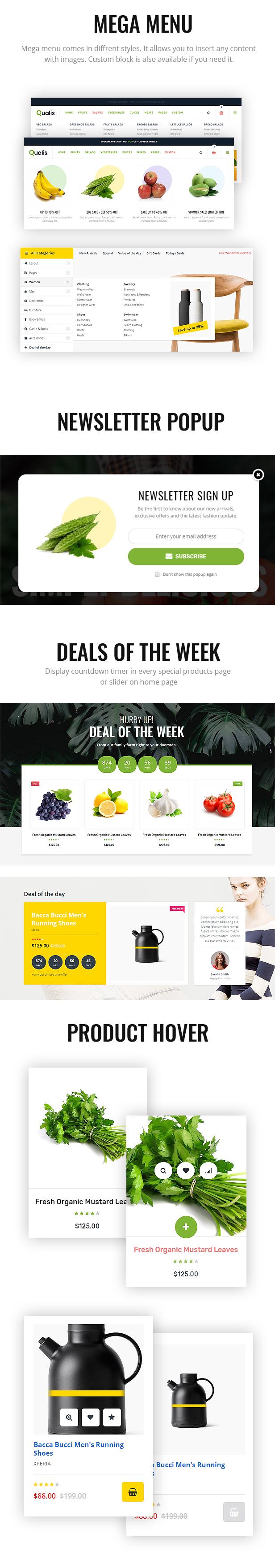 Qualis - Organic Food Responsive eCommerce WordPress Theme - 3