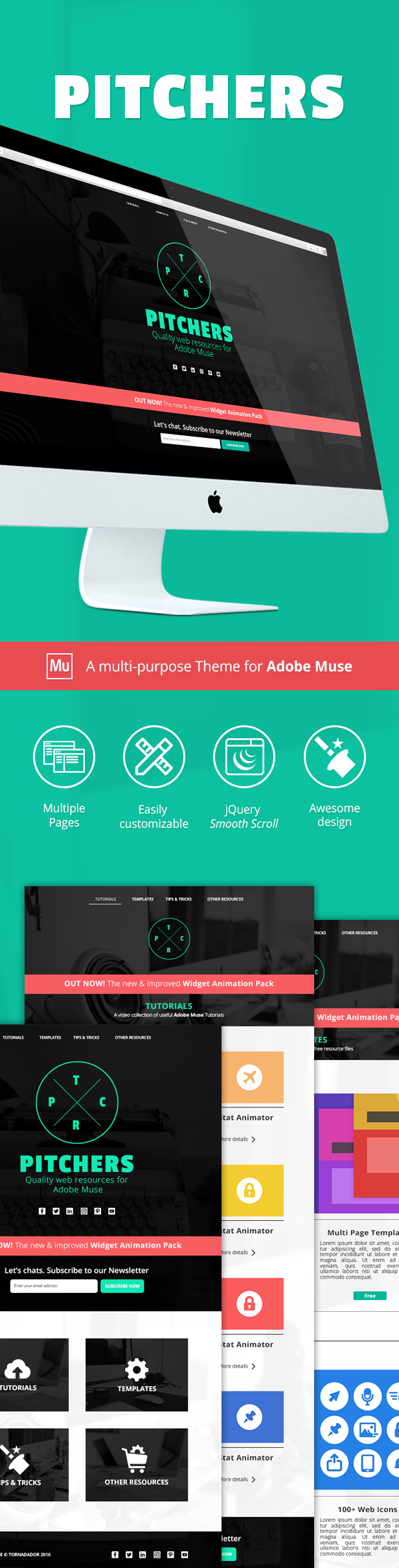Pitchers | A Multi-Purpose Adobe Muse Template - 1