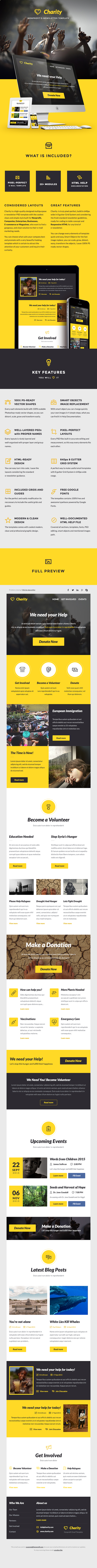 Charity - Nonprofit E-newsletter Template