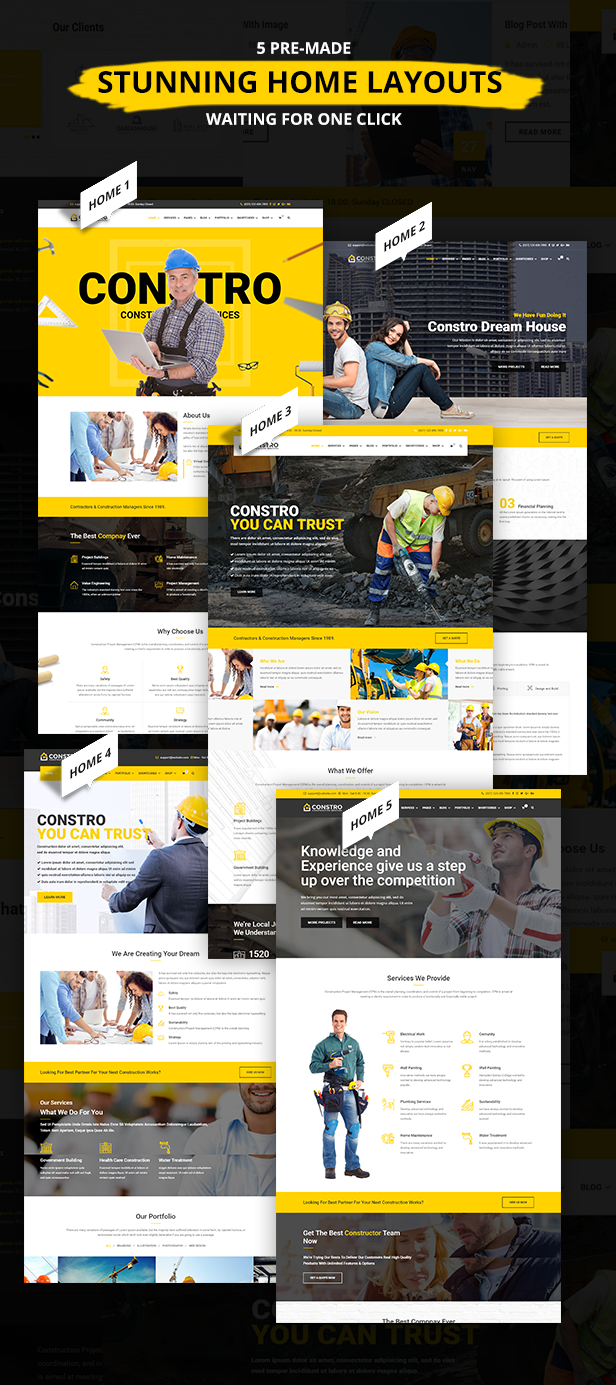 Constro - Construction Business WordPress Theme - 4
