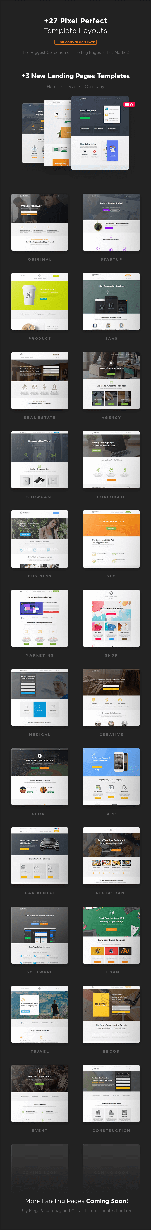 MEGAPACK – Marketing HTML Landing Pages Pack + PixFort Page Builder ...