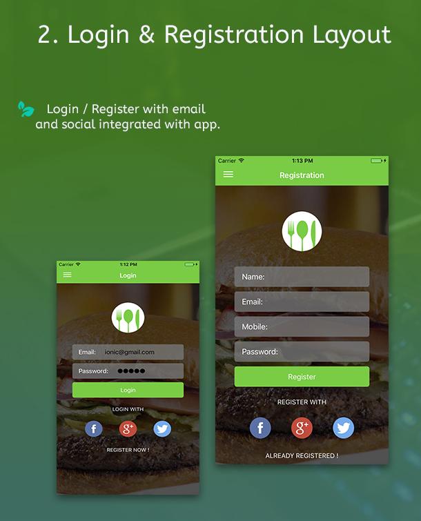 Ionic 3 Restaurant app with Firebase - 6