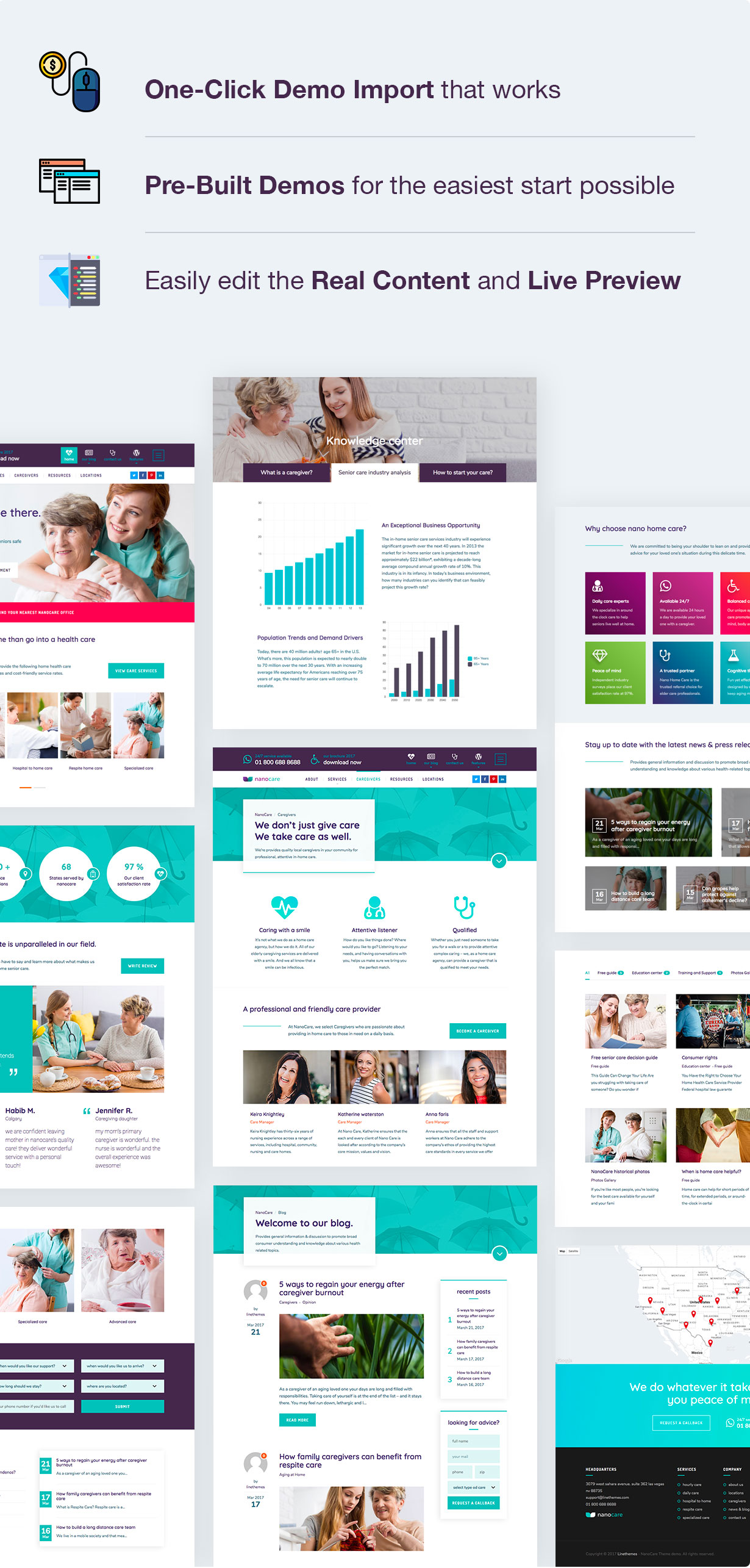 Home Health Care, Medical Care WordPress Theme - NanoCare - 4
