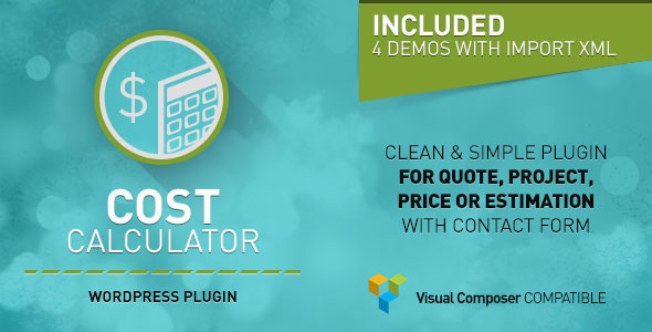 Cost Calculator - WordPress Plugin