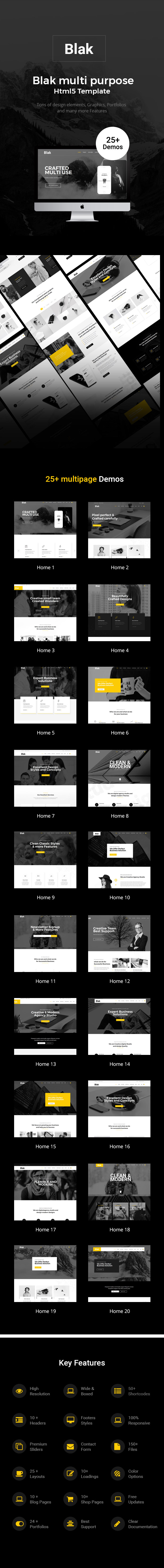 Blak - Responsive Multi-Purpose Drupal 8.7 Theme - 1