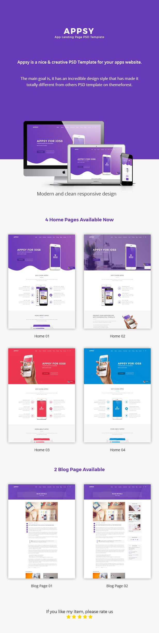 Appsy PSD Template