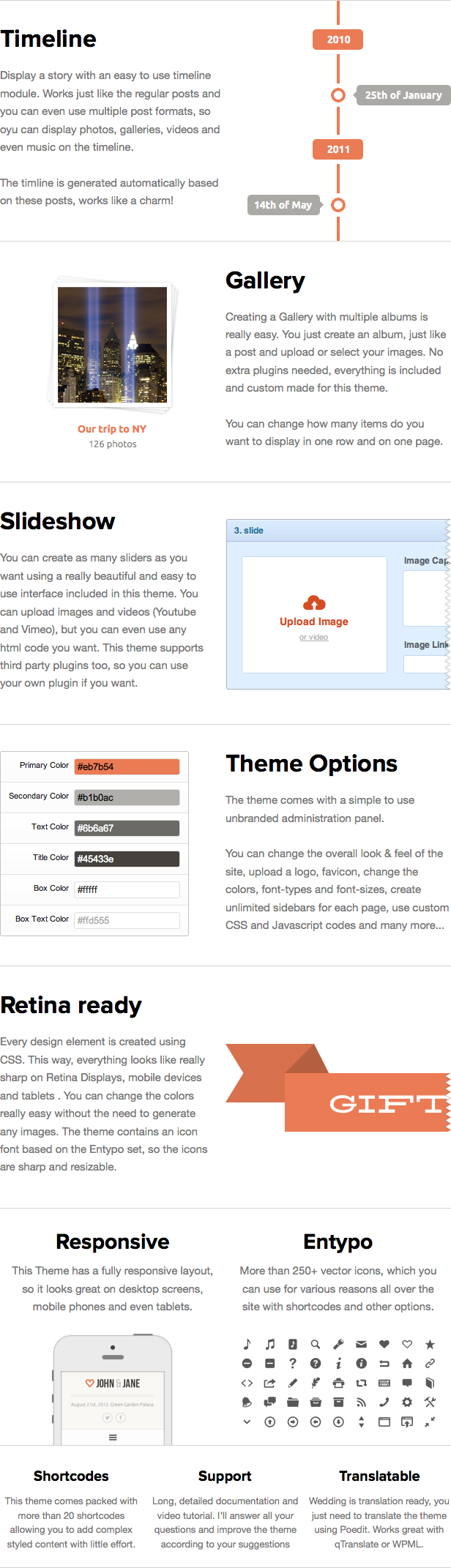 Wedding - Responsive Single Page WordPress Theme - 1