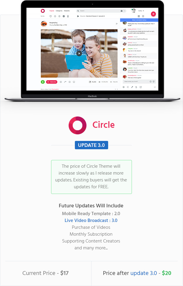 Circle Video Sharing Website PSD Template By Azyrusmax ThemeForest - Photo sharing website template