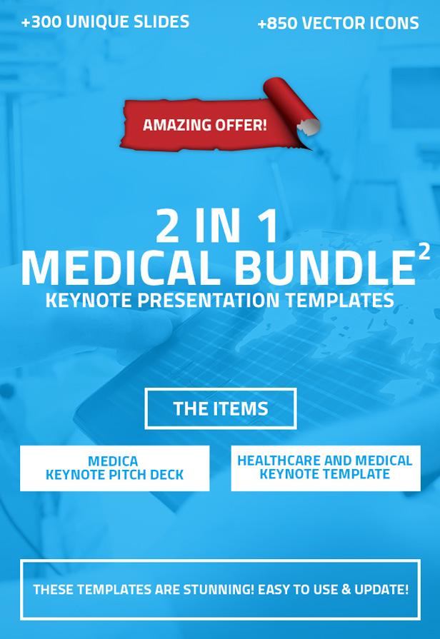 2 in 1 Medical and Healthcare Keynote Bundle 2