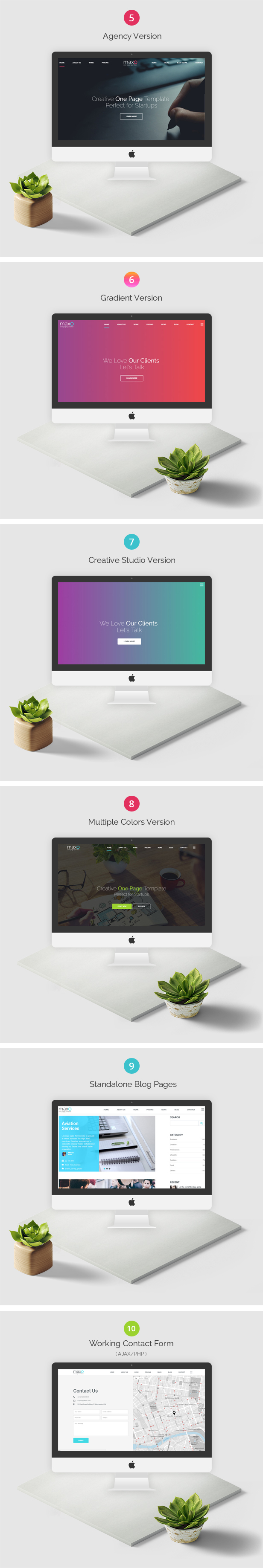 Maxo - One Page Parallax - 3