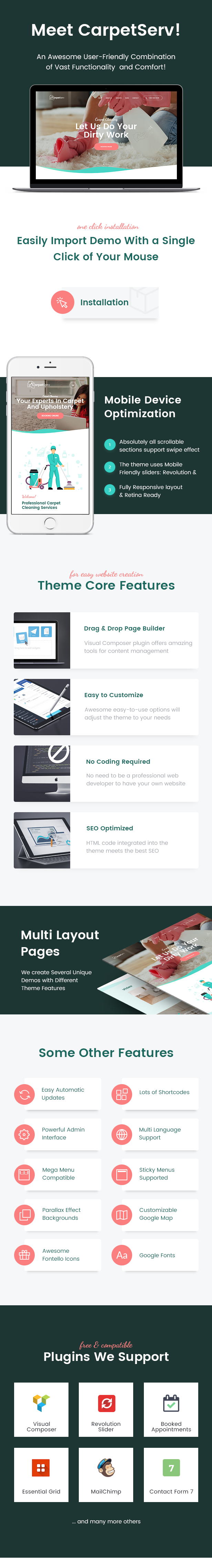 CarpetServ - Cleaning Company & Janitorial Services WordPress Theme