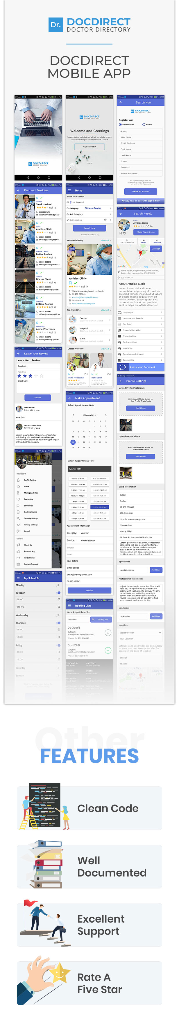 DocDirect App - Doctor Directory Android Native App - 1