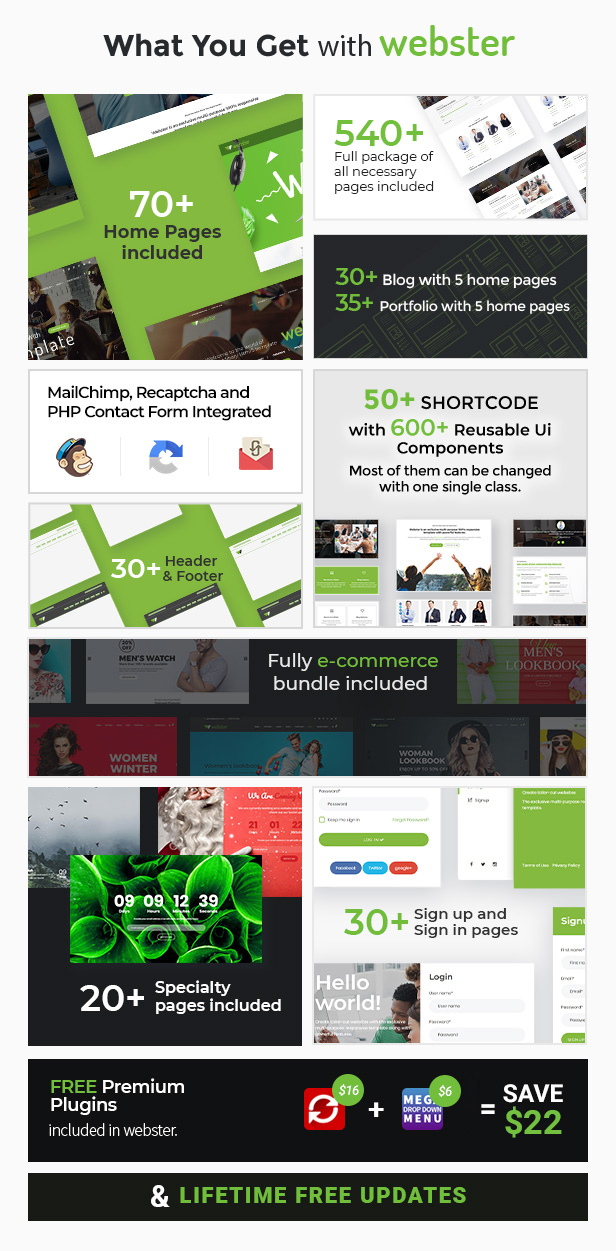 Webster - Responsive Multi-purpose HTML5 Template - 6
