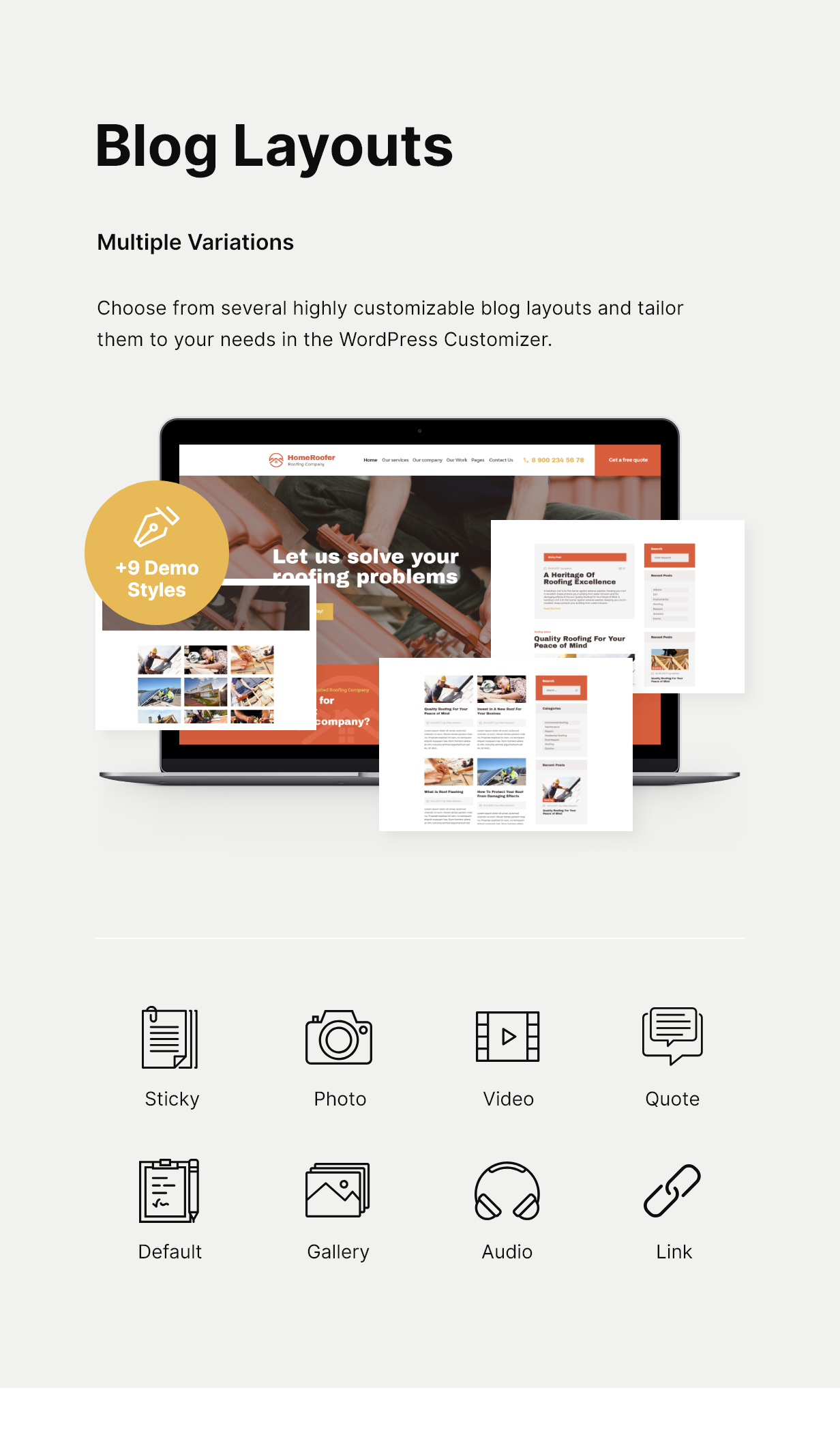 HomeRoofer | Roofing Company Services & Construction WordPress Theme - 5