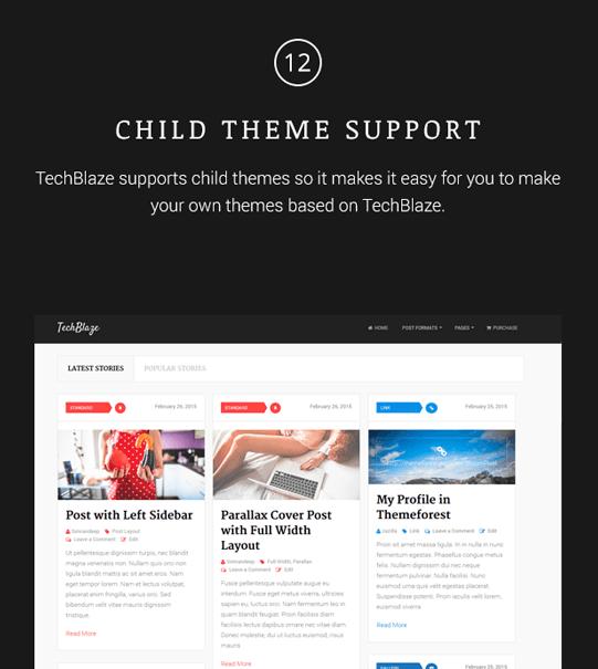 TechBlaze - Professional WordPress Blog Theme - 12