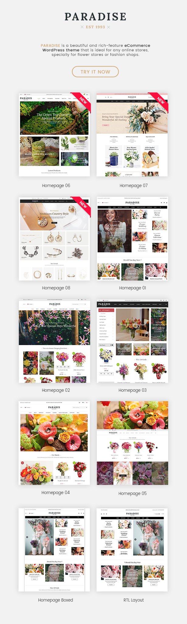 Responsive WooCommerce WordPress Theme - 8 Homepages