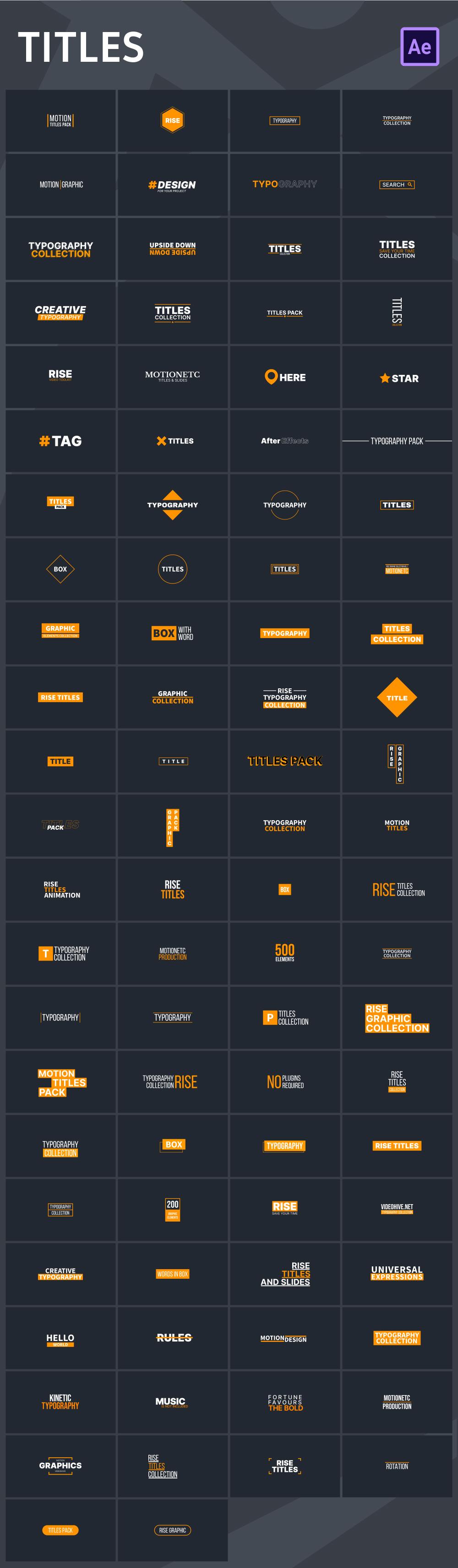 中文汉化AE脚本-465个创意社交媒体字幕条标题图形排版设计背景过渡动画元素扩展工具包 for Win/Mac破解版插图8