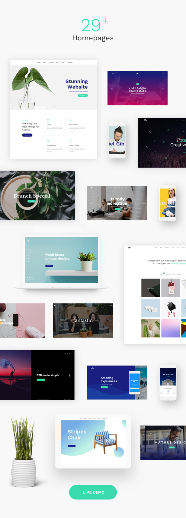 Corporate Business Agency WordPress Theme - 29+ Homepages