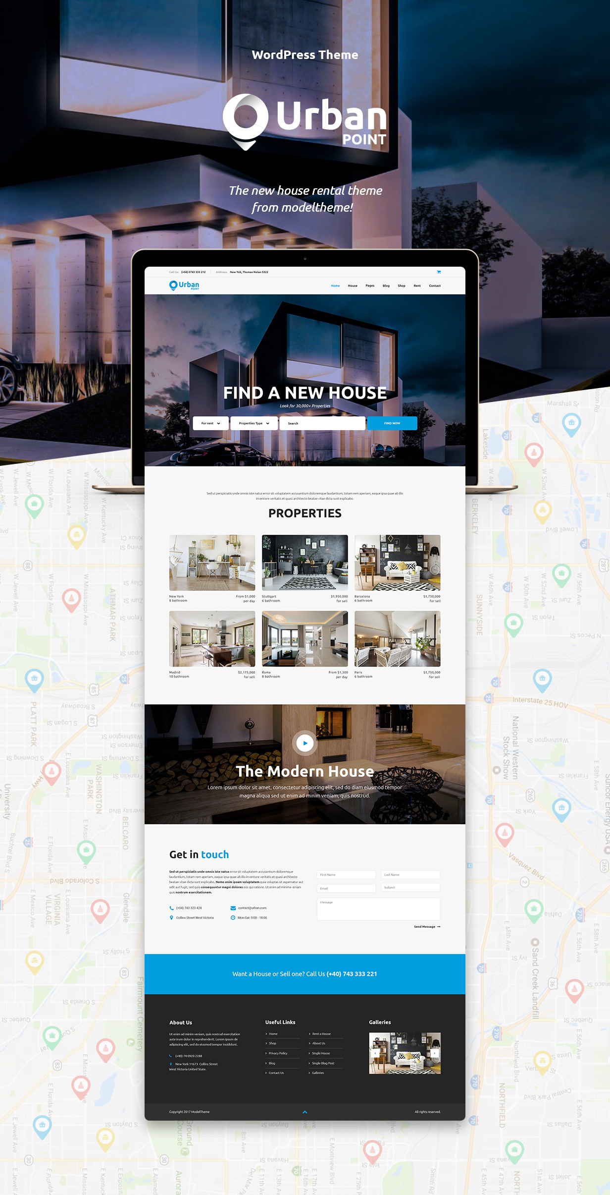 UrbanPoint - House Selling & Rental WordPress Theme - 3