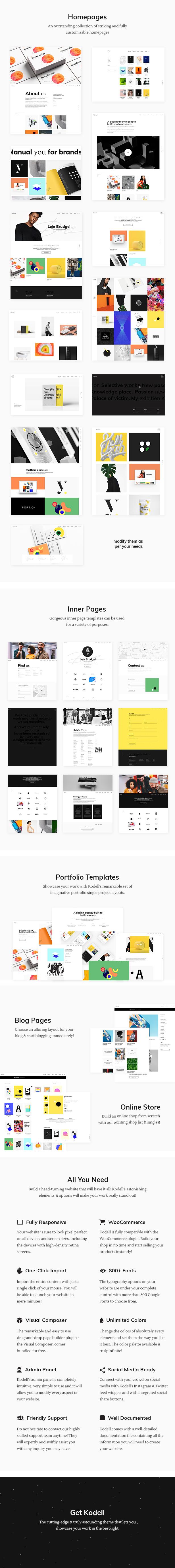 Kodell - Creative Portfolio Theme for Designers and Agencies - 1