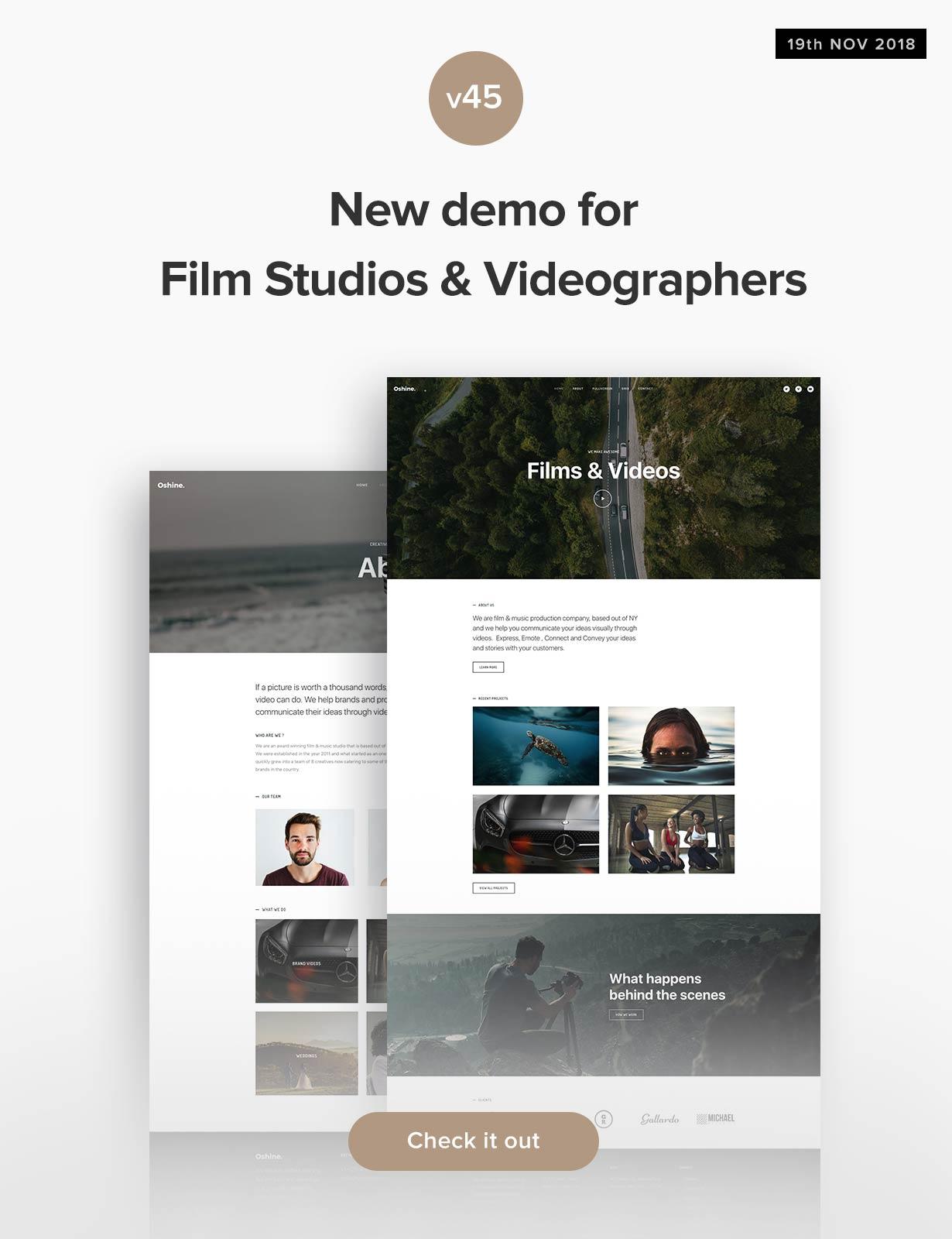 v45- Demo for Film Studios & Videographers