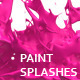 Variety of Isolated 3D Paint Splashes 1 - 2