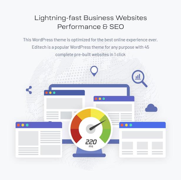 Editech Corporate Business WordPress Theme - Lightening-fast Business website WordPress