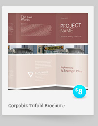 Rebellion Trifold Brochure - PSD Template - 6