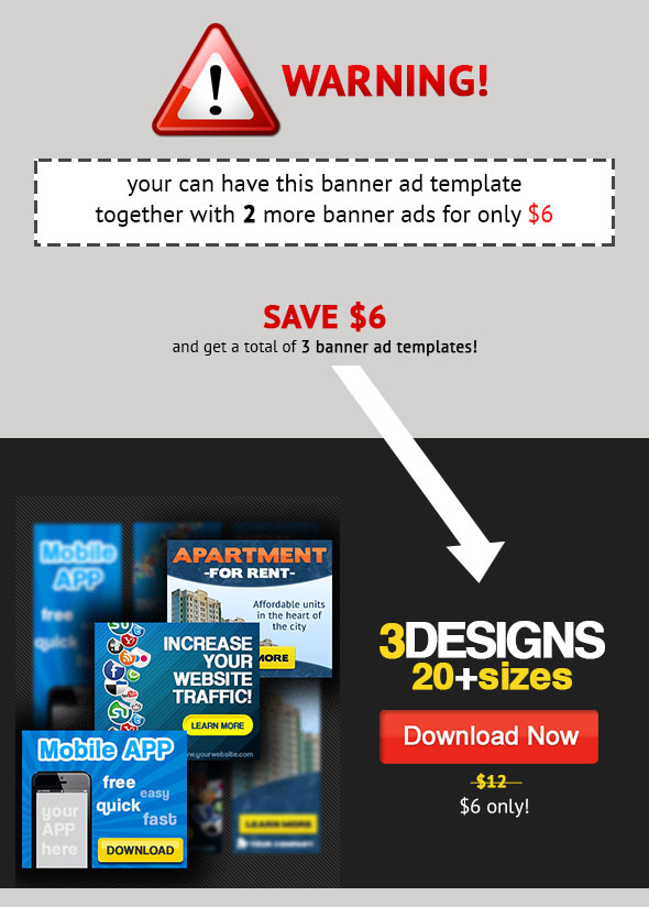 3 Multipurpose Banner Ad $6 only