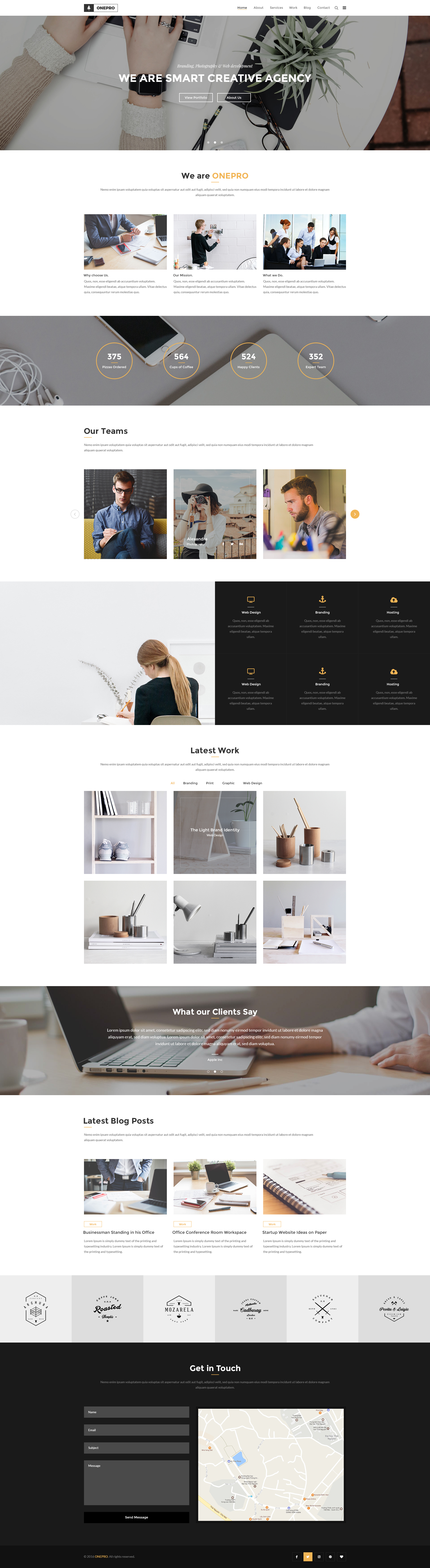 OnePro - Responsive Onepage HTML Template - 1