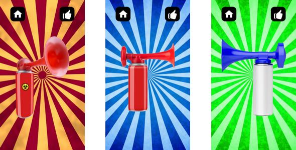 Air Horn (iOS Xcode 10 + Admob + Buildbox) by QUESTO_PLAY