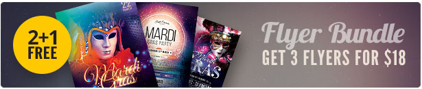 Mardi Gras Flyer Bundle