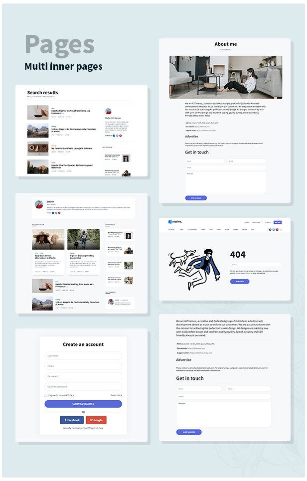 Stories - Personal Blog HTML Template - 6