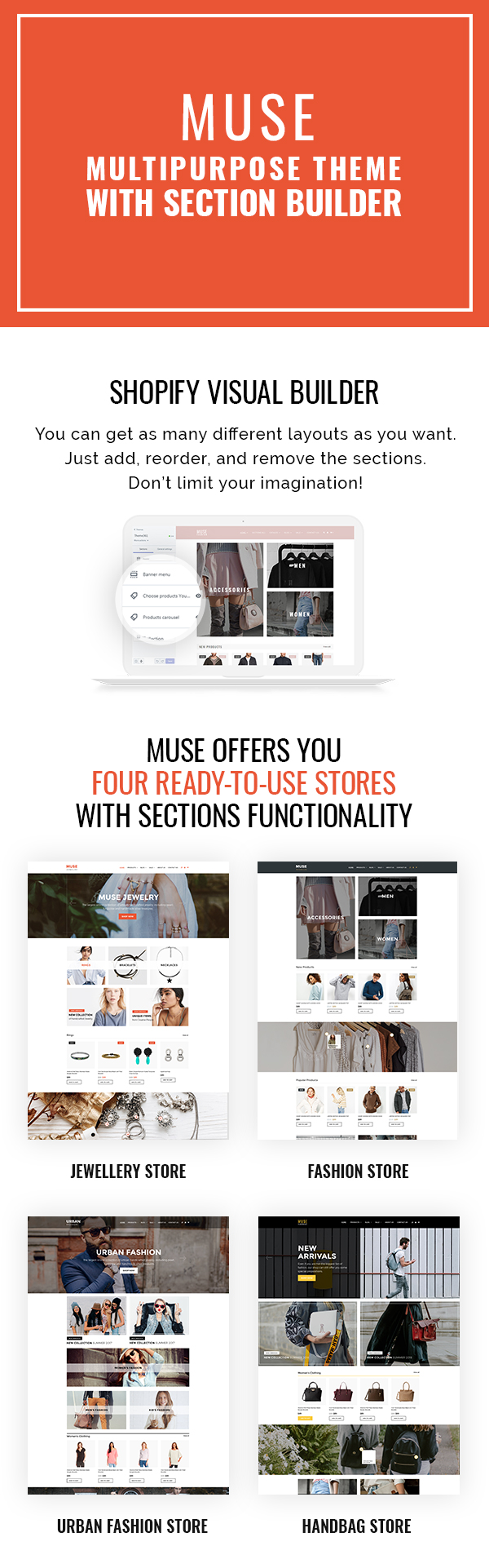 Muse - Multipurpose Shopify Theme with Section Builder & Lookbook - 1