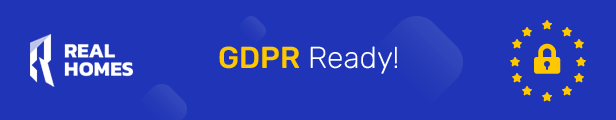 RealHomes Real Estaate WordPress theme is GDPR Ready