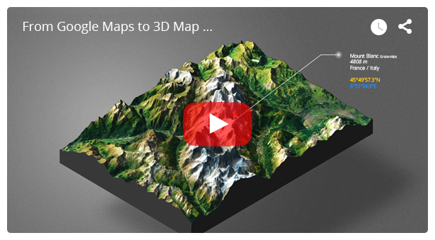 3D Map Generator - Atlas - From Heightmap to real 3D map - 7
