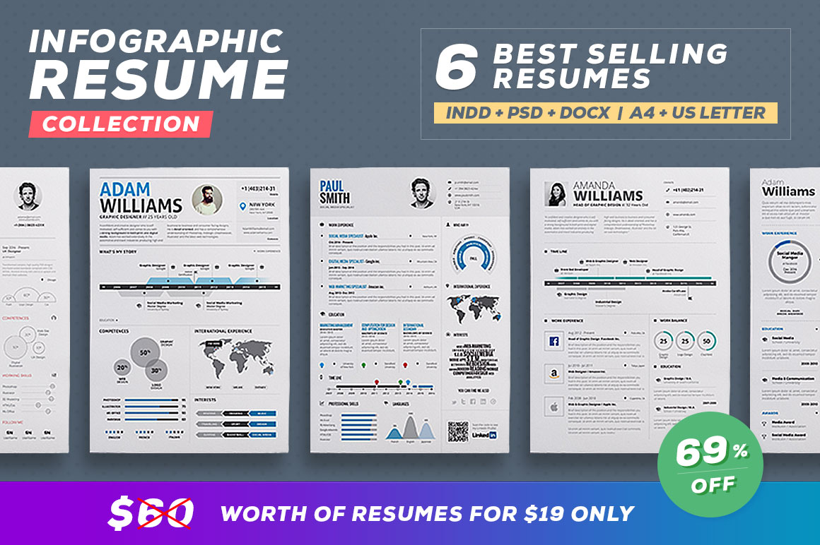for a limited time only you can get this amazing infographic resume template for 8 only regular price 10