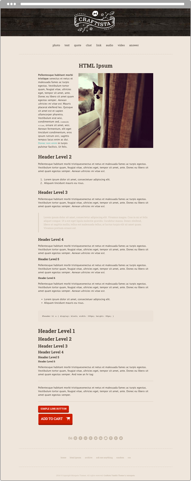 Craftista Page