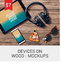 Devices On Wood - Mockups