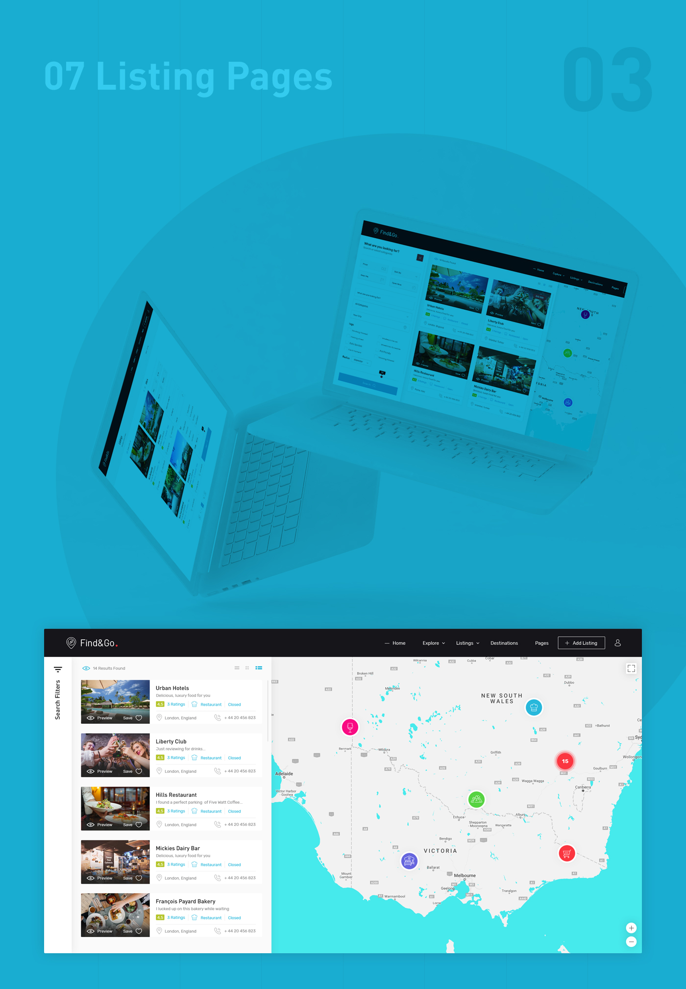 Findgo - Directory Listing WordPress Theme - 4