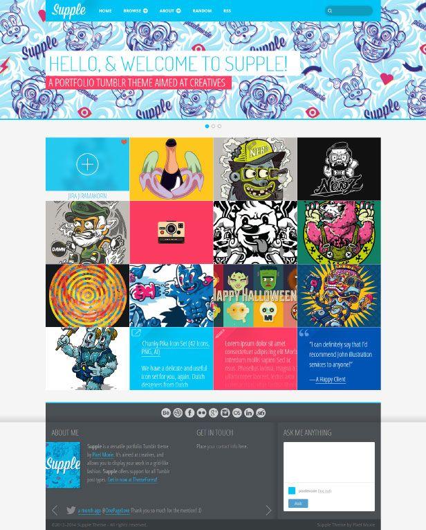 Supple A Portfolio Theme For Tumblr By Pixelmoxie
