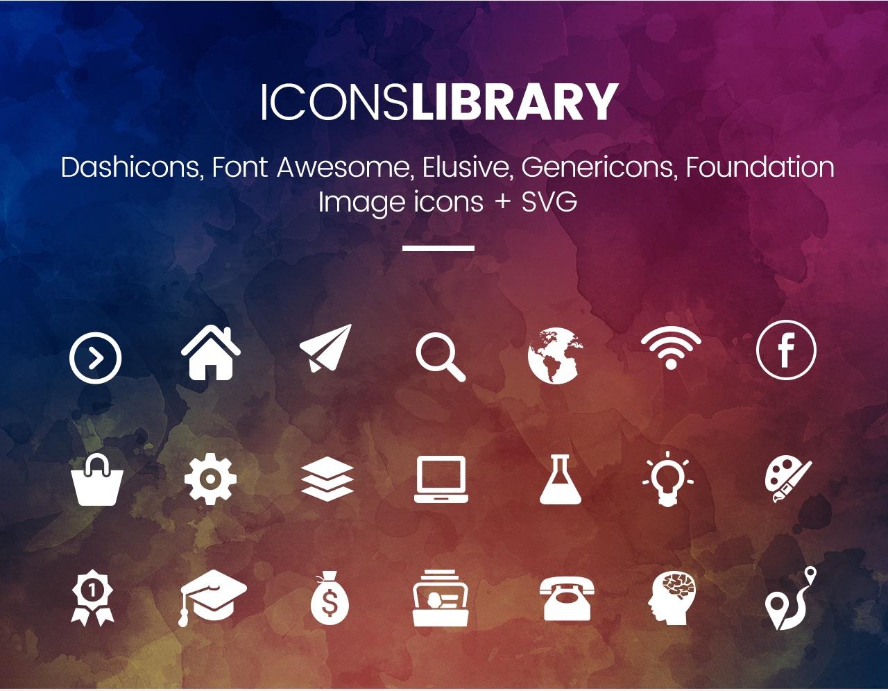 Slick Menu - Icons Library