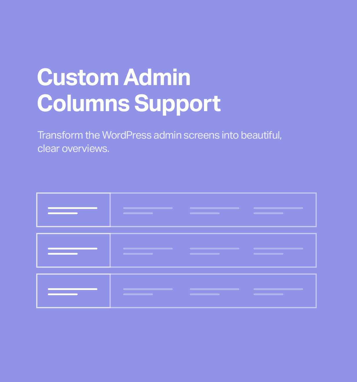 Custom admin columns support