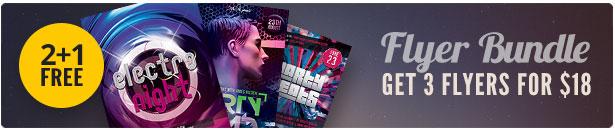 Electro Party Flyer Bundle Vol3