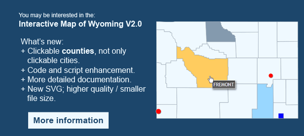 Interactive Map of Wyoming - Clickable Counties