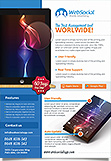 App Web service flyer Template