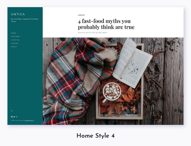 Untica - Personal Blog & Magazine WordPress Theme - 4