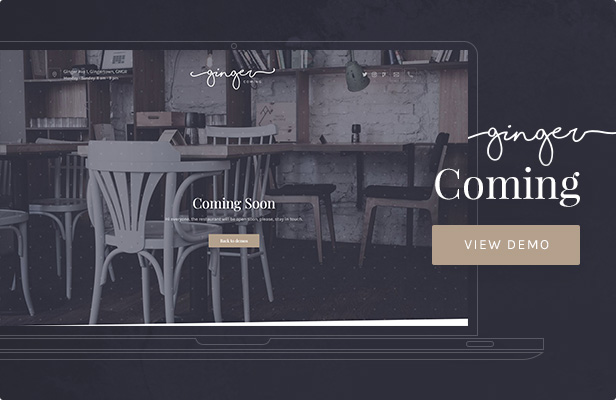 Ginger — Coming WordPress Theme