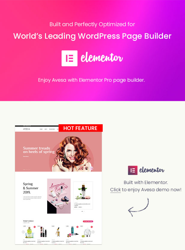 Avesa - Beauty Store WooCommerce WordPress Theme- Elementor Page Builder